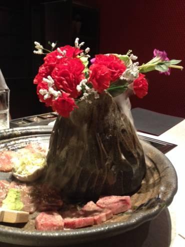 お花と焼肉
