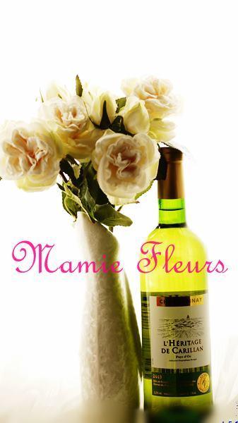 1お花とワイン