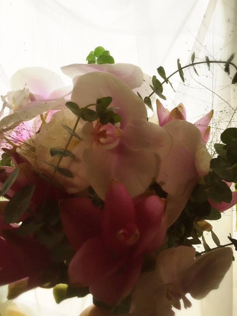 イベントにて花束作成