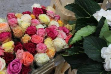 パリの花市場