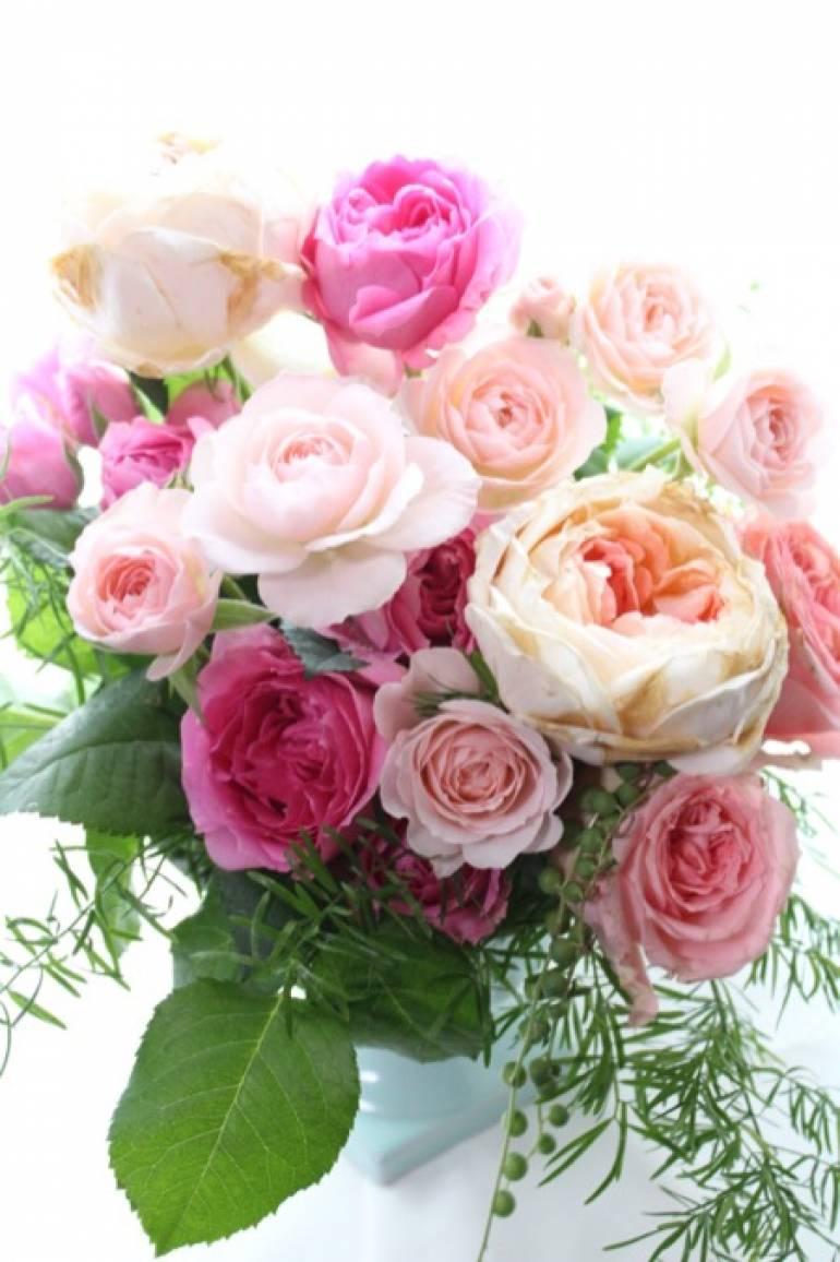 ピンクの薔薇のアレンジ