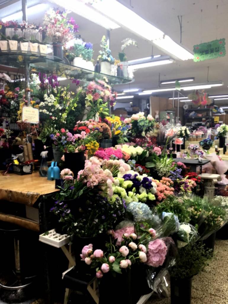 釜山の花市場